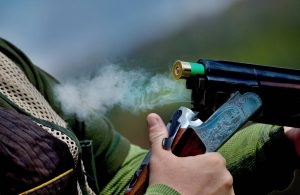 Clay pigeon shooting in the Midlands